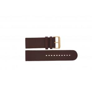 Prisma cinturino dell'orologio DBR27 Pelle Marrone 27mm + cuciture marrone