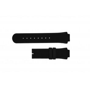 Breil cinturino dell'orologio TW0450 / TW0455 Gomma Nero 16mm