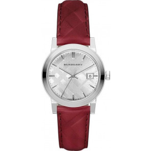 Cinturino per orologio Burberry bu9152 Pelle Rosso