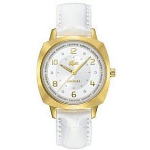 Cinturino per orologio Lacoste 2000604 / LC-47-3-34-2234 Pelle Bianco 18mm