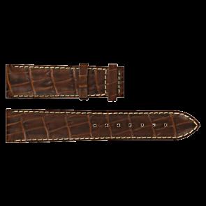 Certina cinturino dell'orologio C610007728 / C61040201 / C536.7029.42.69 Pelle Marrone 20mm + cuciture bianco