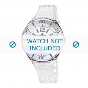Calypso cinturino dell'orologio K5588/1  Gomma / plastica Bianco