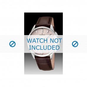 Candino cinturino dell'orologio C4517-1 Pelle Marrone + cuciture marrone
