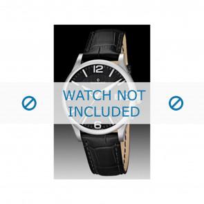 Candino cinturino dell'orologio C4494 Pelle Nero + cuciture nero