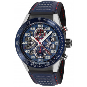 Cinturino per orologio Tag Heuer CAR2A1N / FT6100 / BT6133 Pelle Blu 22mm