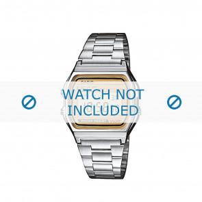 Casio cinturino orologio A158WEA-9EF / A158WEA-9 Acciaio Argento 18mm