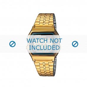 Casio cinturino orologio A159WGEA-1EF / A159WGEA-1 Acciaio Oro (Placcato) 18mm