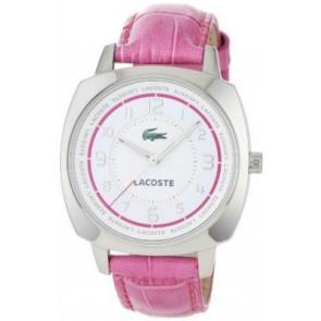 Cinturino per orologio Lacoste 2000599 / LC-47-3-14-2233 Pelle di coccodrillo Rosa 18mm