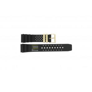 Cinturino per orologio Universale CMT-22-DBL Gomma Nero 22mm