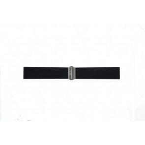 Cinturino per orologio Davis BB0881 Gomma Nero 22mm