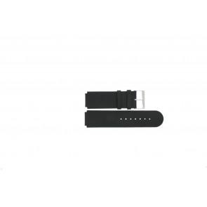 Jacques Lemans cinturino dell'orologio DC-210 / 1-1867A Pelle Nero 20mm + cuciture nero