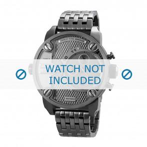 Diesel cinturino dell'orologio DZ7263 Metallo Grigio antracite 24mm