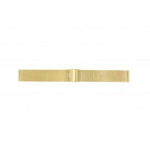 Cinturino per orologio Universale MESH-DOUBLE-18MM Acciaio Placcato oro 18mm