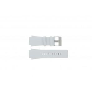 Diesel cinturino dell'orologio DZ1449 Pelle Bianco 25mm