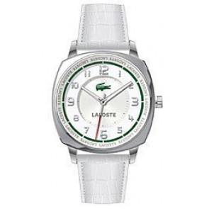 Cinturino per orologio Lacoste 2000598 / LC-47-3-14-2233 Pelle di coccodrillo Bianco 18mm