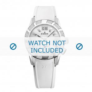 Edox cinturino dell'orologio 62005 Silicone Bianco