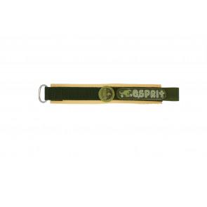 Esprit cinturino dell'orologio ES101333002U Velcro Verde 16mm + cuciture marrone