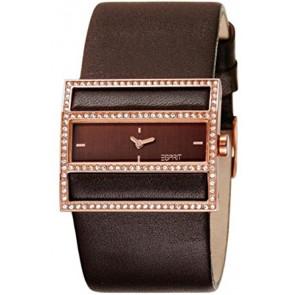Esprit cinturino dell'orologio ES-103072003 Pelle Marrone scuro 30mm