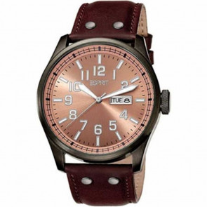 Esprit cinturino dell'orologio ES103151002 Pelle Marrone 25mm + cuciture marrone