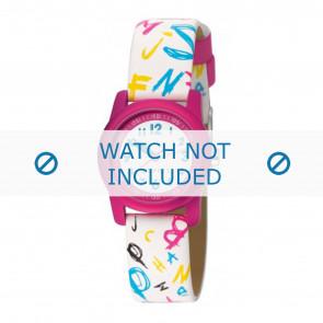 Esprit cinturino dell'orologio ES000FA4-40 / 000FA4030 Pelle Bianco