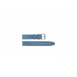 Cinturino orologio in vera pelle di sella, blu, 26mm G-33