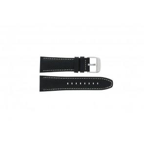 Lotus cinturino dell'orologio 15536 Pelle Nero 26mm + cuciture bianco