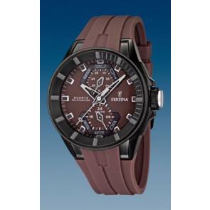 Festina cinturino orologio F16612/2 Gomma Marrone 18mm