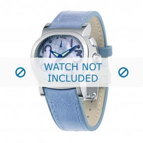 Festina cinturino dell'orologio F16125.2 Pelle Blu 23mm + cuciture blu
