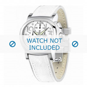 Festina cinturino dell'orologio F16125.7 Pelle Bianco 23mm + cuciture bianco