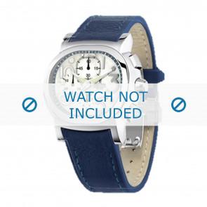 Festina cinturino dell'orologio F16125.1  Pelle Blu 23mm + cuciture blu