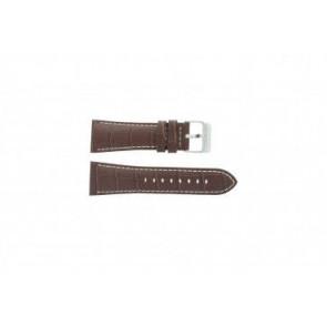Festina cinturino orologio F16235/15 Pelle Marrone 28mm + cuciture bianco