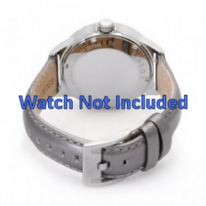 Cinturino orologio Fossil in pelle AM4337 argento