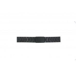 Fossil cinturino dell'orologio FS4775 Metallo Nero 22mm