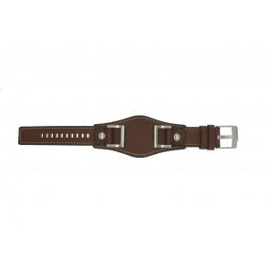 Cinturino per orologio Fossil JR1157 Pelle Marrone 24mm