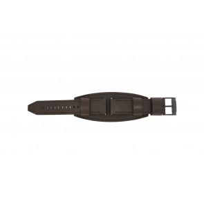 Fossil cinturino orologio JR1365 Pelle Marrone scuro 22mm