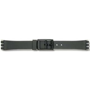 Swatch cinturino dell'orologio P38 Gomma / plastica Nero 12mm