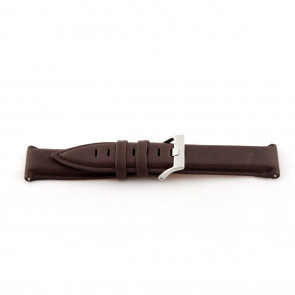 Cinturino orologio in vera pelle, marrone medio, 22mm EX-G119