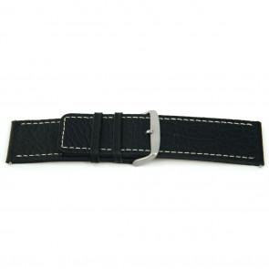 Cinturino per orologio Universale L125 Pelle Nero 30mm