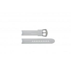 Cinturino per orologio BTB.F.R.CH.05 / BTB.F.R.CH.01 Gomma Bianco 19mm