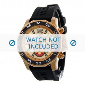 Invicta cinturino dell'orologio 7432 Gomma Nero 22mm