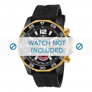 Invicta cinturino dell'orologio 7434 Gomma Nero 22mm