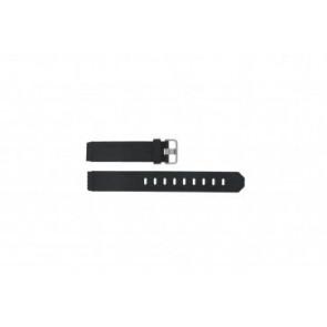 Jacob Jensen cinturino dell'orologio 732 / 742 / 640 / 641 / 660 / 662 / 680 / 681 Gomma Nero 17mm