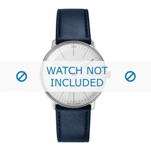 Junghans cinturino dell'orologio 041/4464.00 Pelle Blu 20mm + cuciture di default