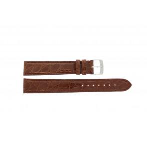 Morellato cinturino dell'orologio Amadeus XL G.Croc Gl K0518052041CR18 / PMK041AMADEU18 Pelle di coccodrillo Marrone 18mm + cuciture di default