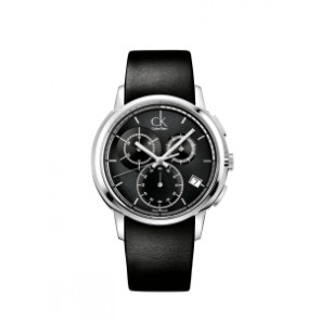 Cinturino per orologio Calvin Klein K1V27102 / K600000091 Pelle Nero 22mm