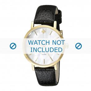 Cinturino per orologio Kate Spade New York 1YRU0010 Pelle Nero 16mm
