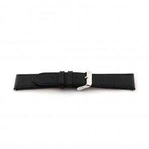 Cinturino orologio in pelle, extra-long, nero, 24mm EX-K63487