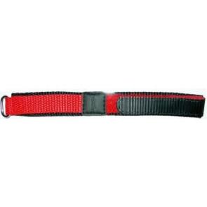 Cinturino orologio in velcro, 20mm, rosso