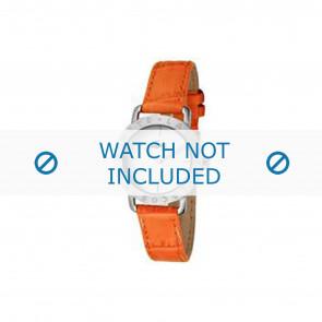 Lacoste cinturino dell'orologio 2000513 / LC-05-3-14-0167 Pelle Arancione 13mm + cuciture arancione