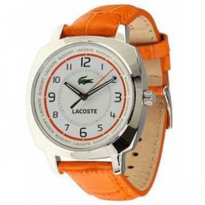 Cinturino per orologio Lacoste 2000600 / LC-47-3-14-2233 Pelle Arancione 18mm